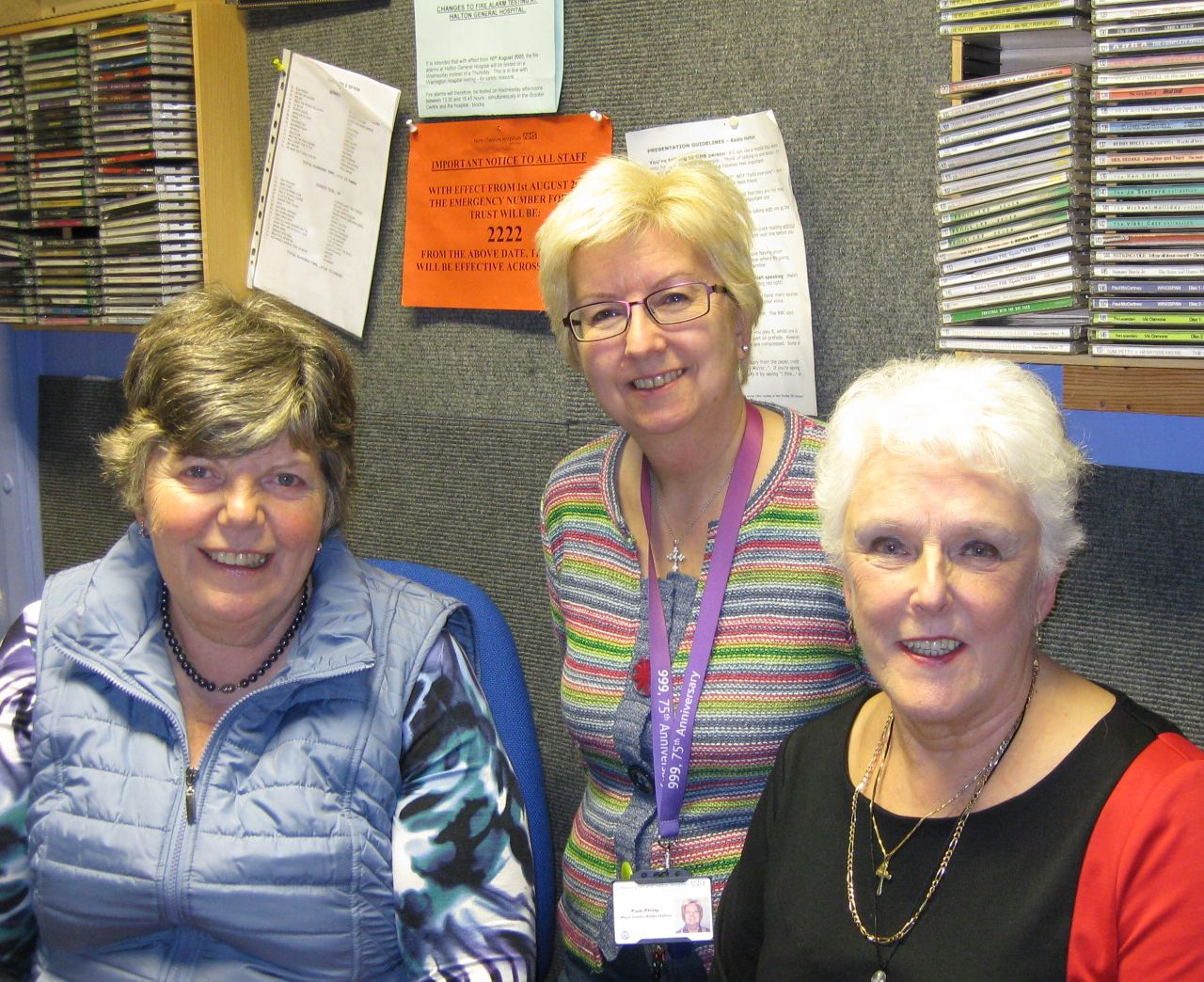 June Snowden with Pam Eastwood and Mary Hill