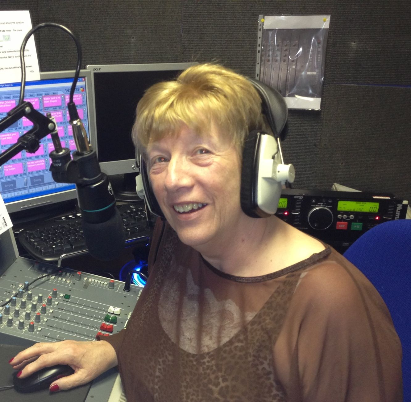 Linda Redhead in the studio