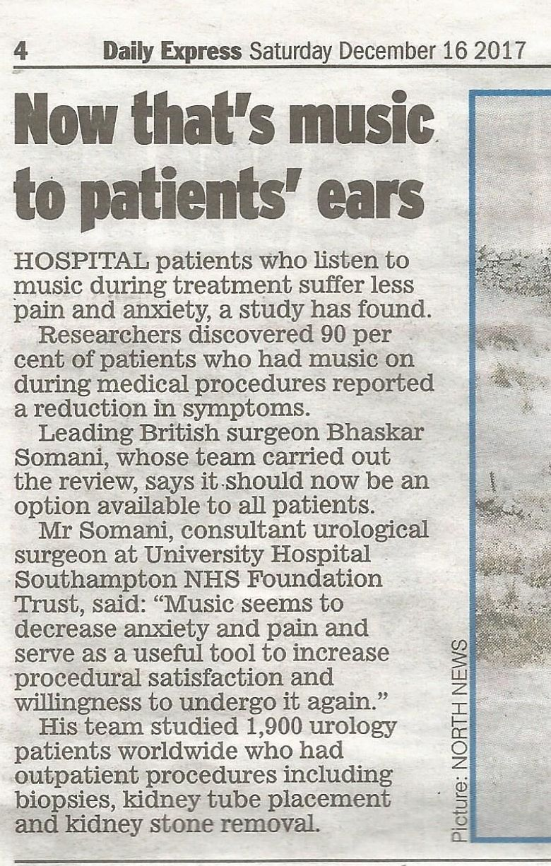 music to patients' ears